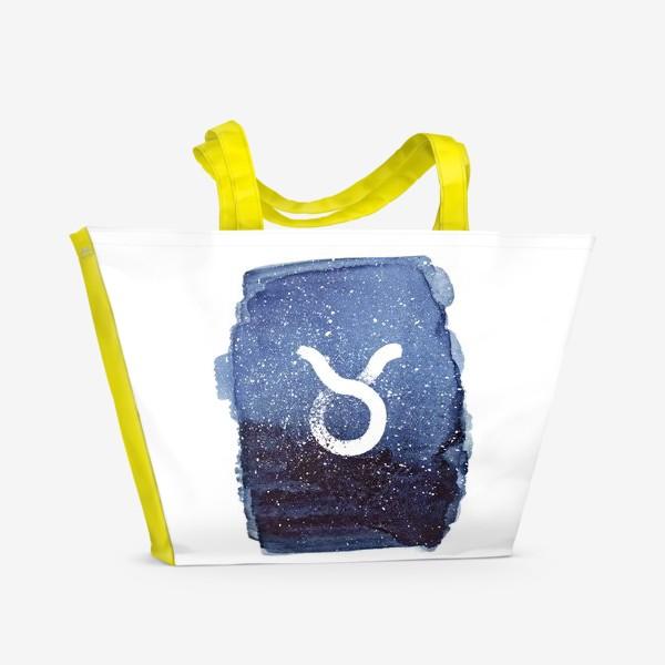 Пляжная сумка «Телец. Акварельный космос»