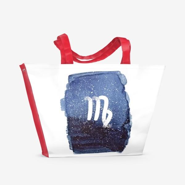 Пляжная сумка «Дева. Акварельный космос»
