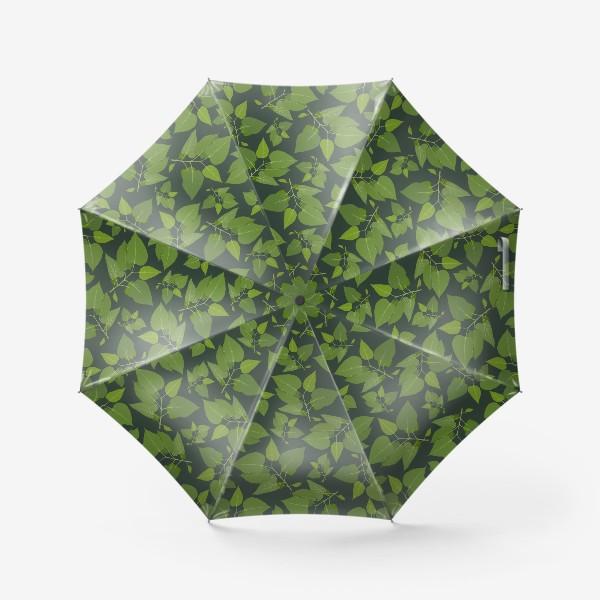 Зонт «Зеленое на зеленом »