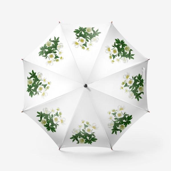 Зонт «Цветы белые »