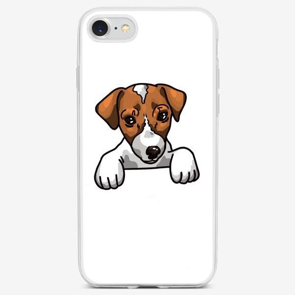 Чехол iPhone «иллюстрация милый Джек Рассел »