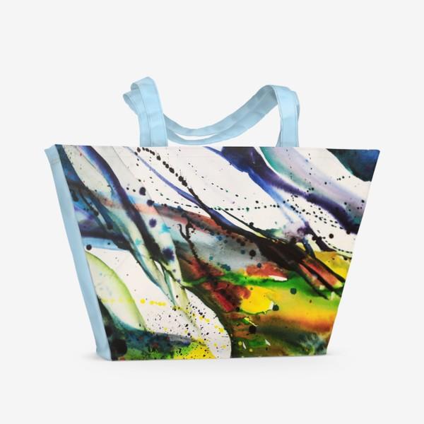Пляжная сумка «Акварельный абстрактный фон»