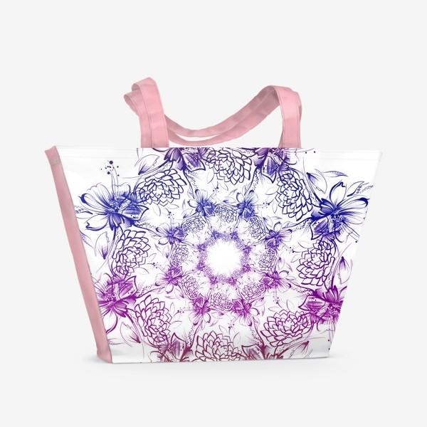 Пляжная сумка «Венок с ромашками»
