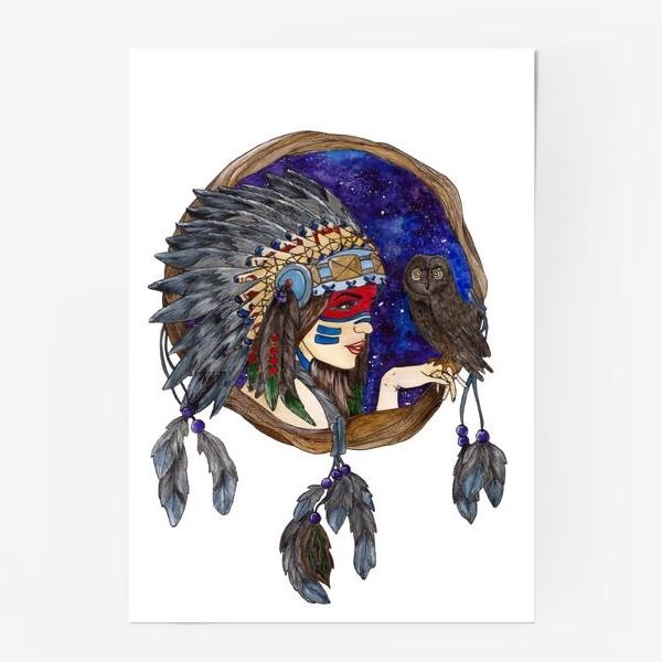 Постер «Ловец снов космическая девушка»