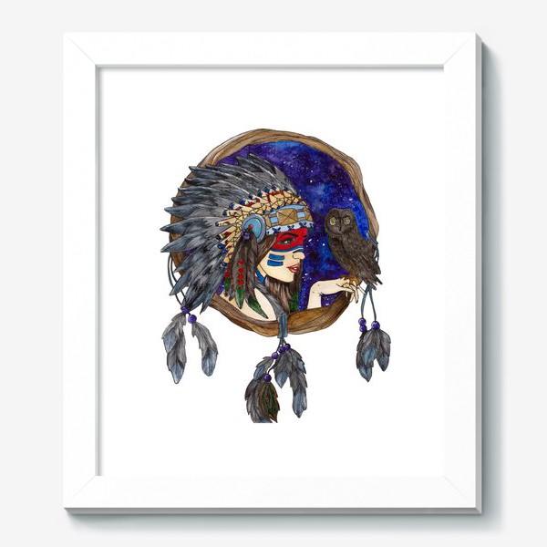 Картина «Ловец снов космическая девушка»