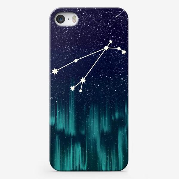 Чехол iPhone «Зодиак Овен. Северное сияние»