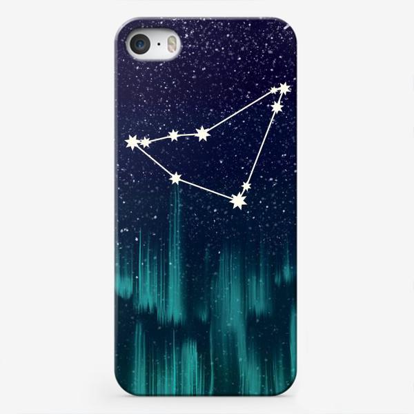 Чехол iPhone «Зодиак Козерог. Северное сияние»