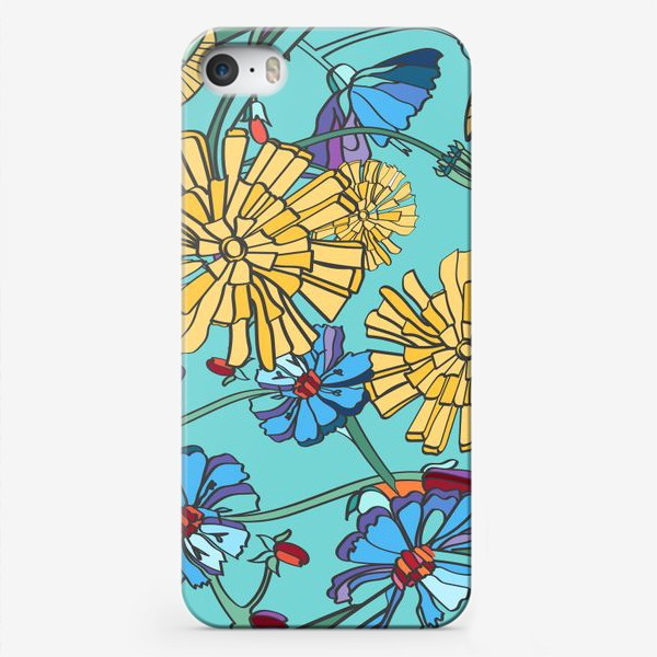 Чехол iPhone «Паттерн с одуванчиками»