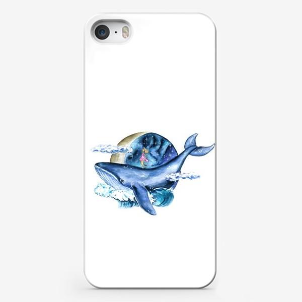 Чехол iPhone «космос и кит»