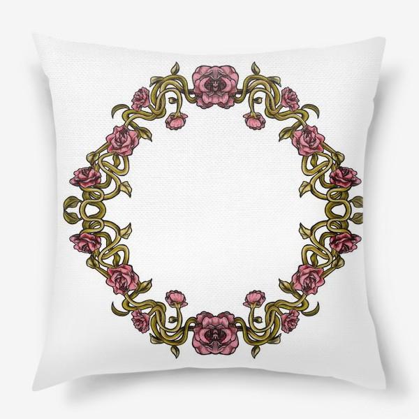 Подушка «Art Nouveau Frame»