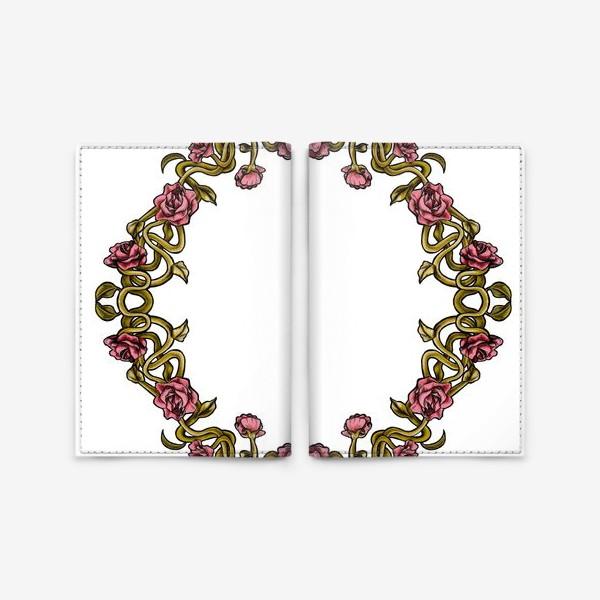 Обложка для паспорта «Art Nouveau Frame»