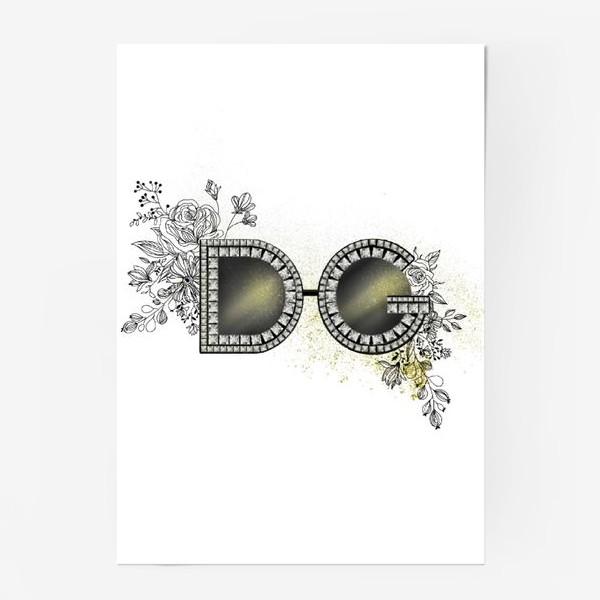 Постер «Очки D&G»