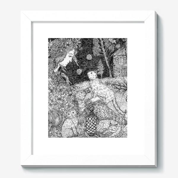 Картина «Девушка и кошки»