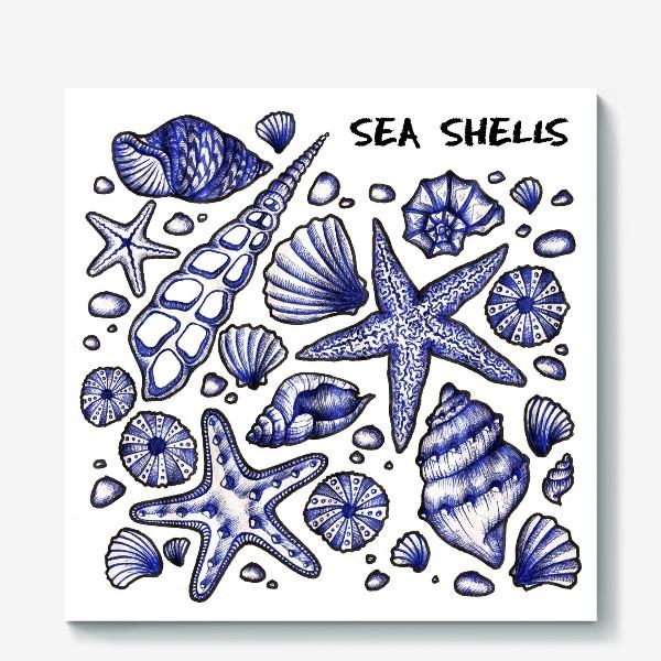 Холст «Морские ракушки»