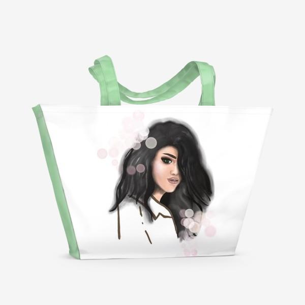 Пляжная сумка «Fashion girl. Девушка. Портрет»