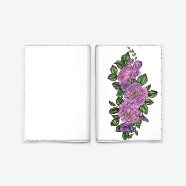 Обложка для паспорта «Пионы»