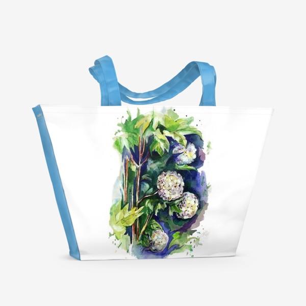 Пляжная сумка «Цветы калины»