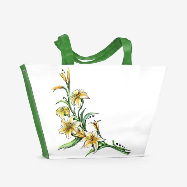 Пляжная сумка «Гладиолус»