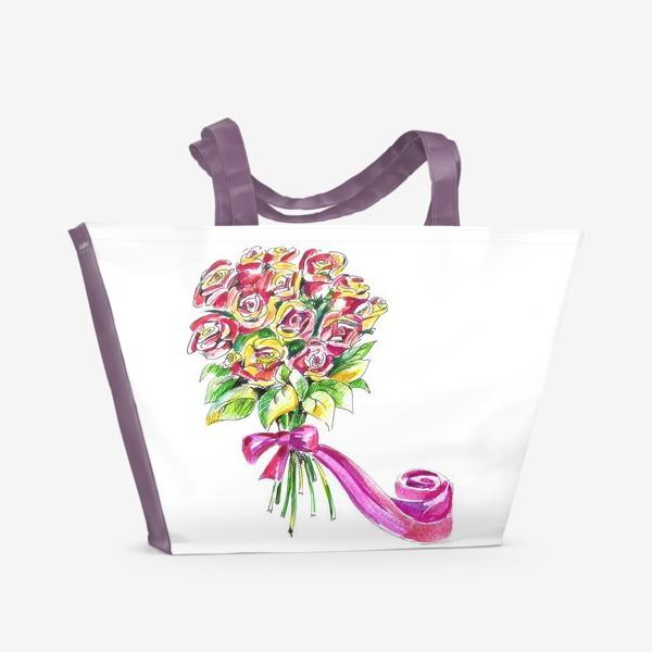 Пляжная сумка «Букет роз»