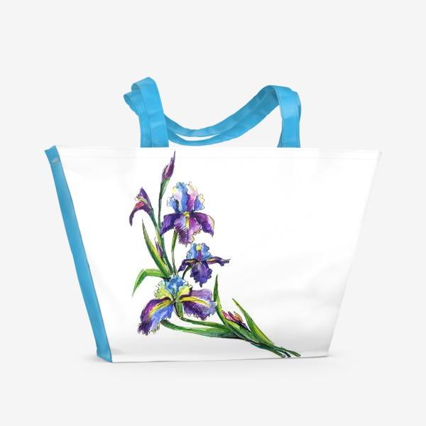 Пляжная сумка «Ирисы»