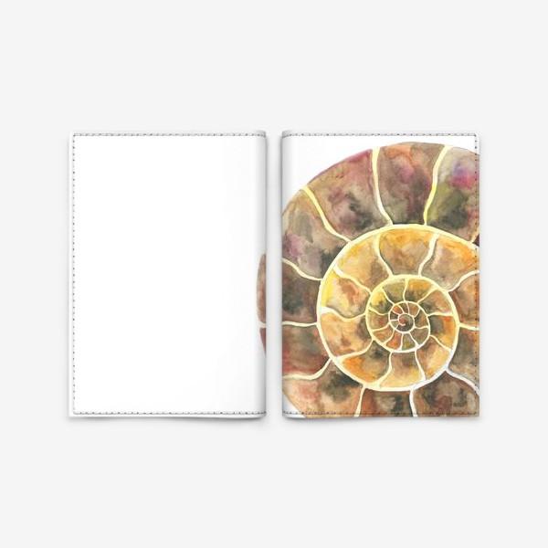 Обложка для паспорта «Аммонит, доисторическая улитка»