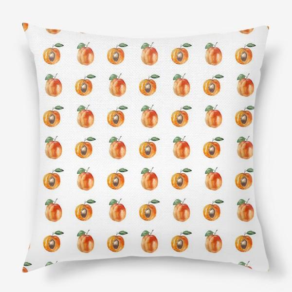 Подушка «Сладкие абрикосы паттерн»