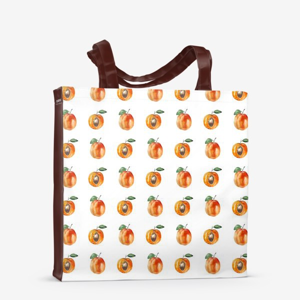 Сумка-шоппер «Сладкие абрикосы паттерн»