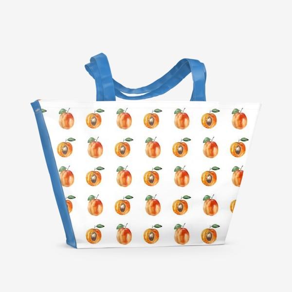 Пляжная сумка «Сладкие абрикосы паттерн»
