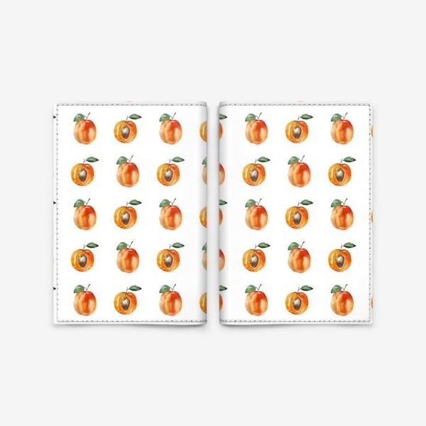 Обложка для паспорта «Сладкие абрикосы паттерн»
