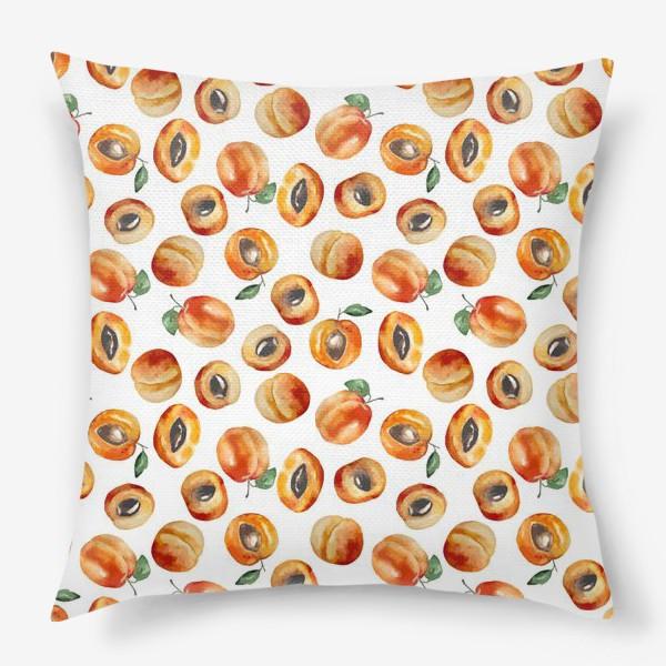 Подушка «Сладкие абрикосы коллаж»