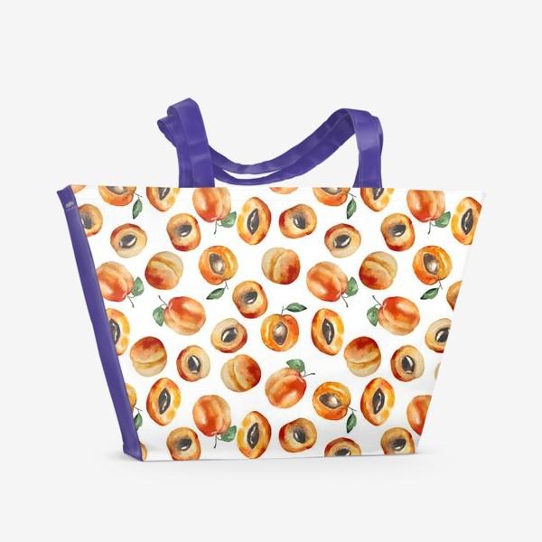 Пляжная сумка «Сладкие абрикосы коллаж»