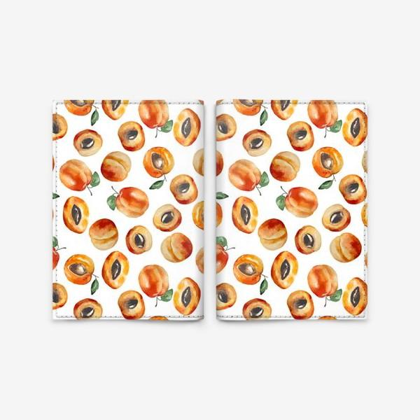 Обложка для паспорта «Сладкие абрикосы коллаж»