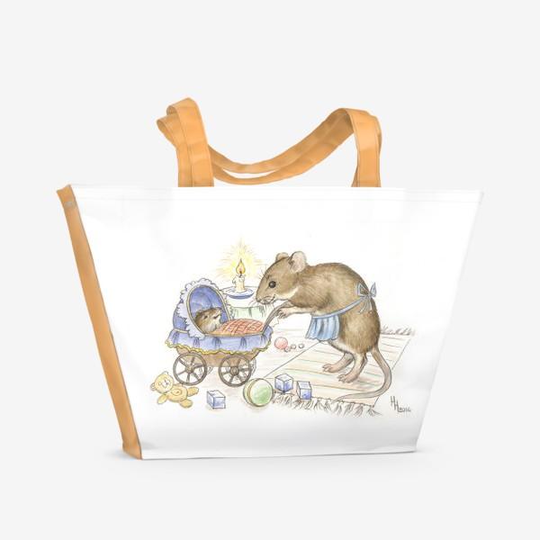Пляжная сумка «Мама мышь»