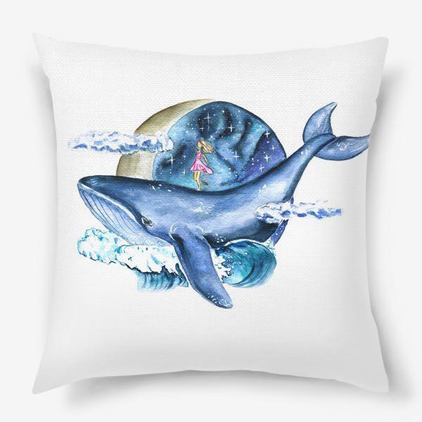 Подушка «космос и кит»