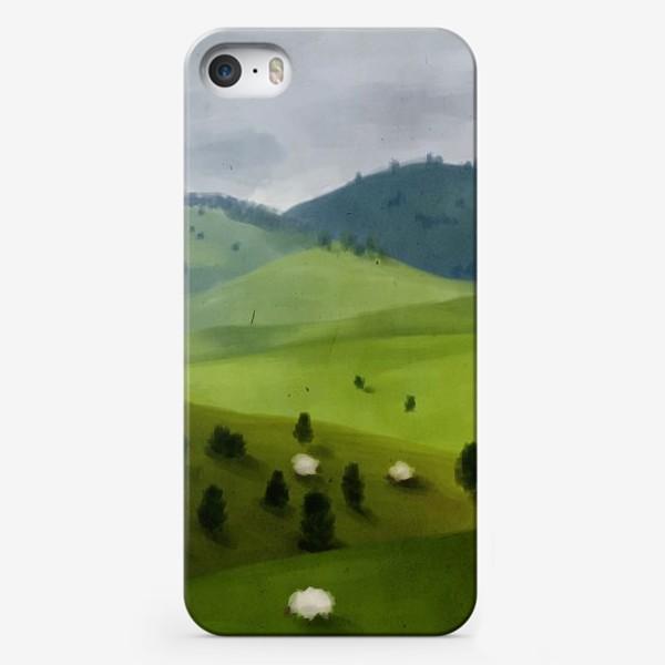 Чехол iPhone «Пейзаж с овцами»