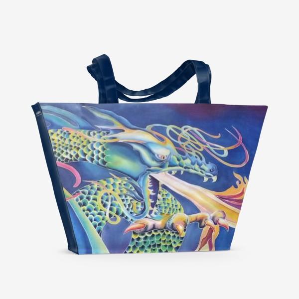 Пляжная сумка «Синий дракон »