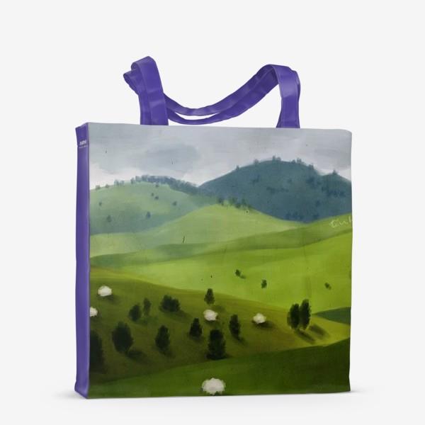 Сумка-шоппер «Пейзаж с овцами»