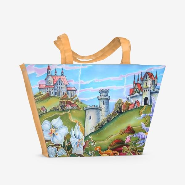 Пляжная сумка «Замки »
