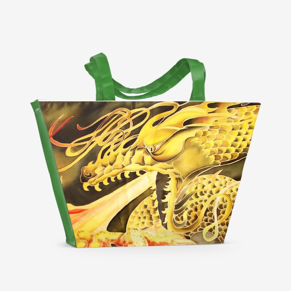 Пляжная сумка «Зеленый дракон »