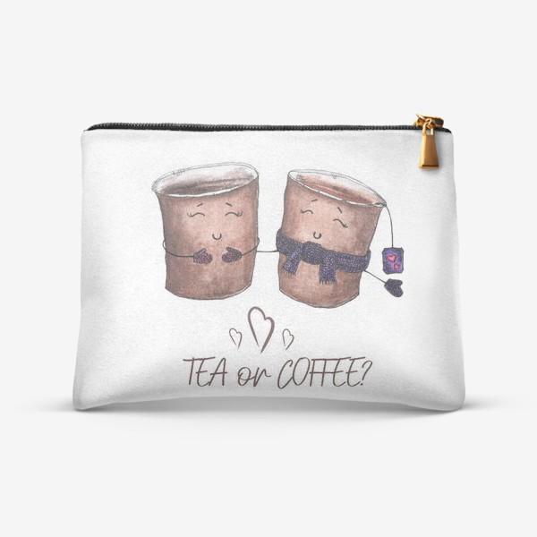Косметичка «Дуэт стаканчиков - чай или кофе?»