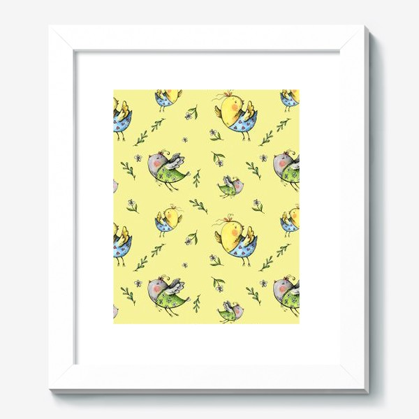 Картина «Птички-невелички на желтом»