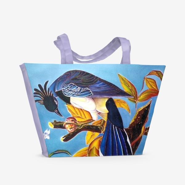 Пляжная сумка «синяя птица »
