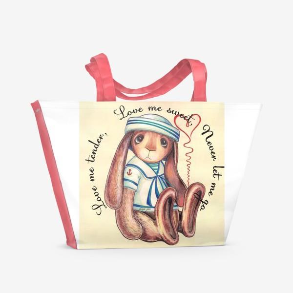 Пляжная сумка «люби меня нежно ...»