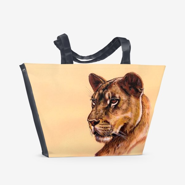 Пляжная сумка «Львица »