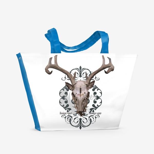 Пляжная сумка «Череп оленя »