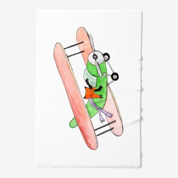 Полотенце «Лис в самолете. Помаши ручкой проблемам!»