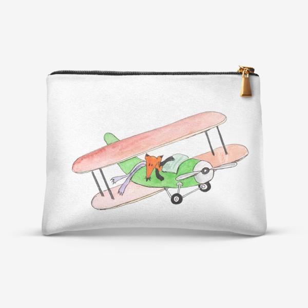 Косметичка «Лис в самолете. Помаши ручкой проблемам!»