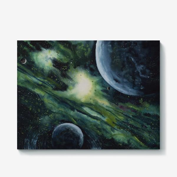 Холст «Зеленый космос»