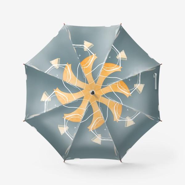 Зонт «Любитель бананов милая надпись»