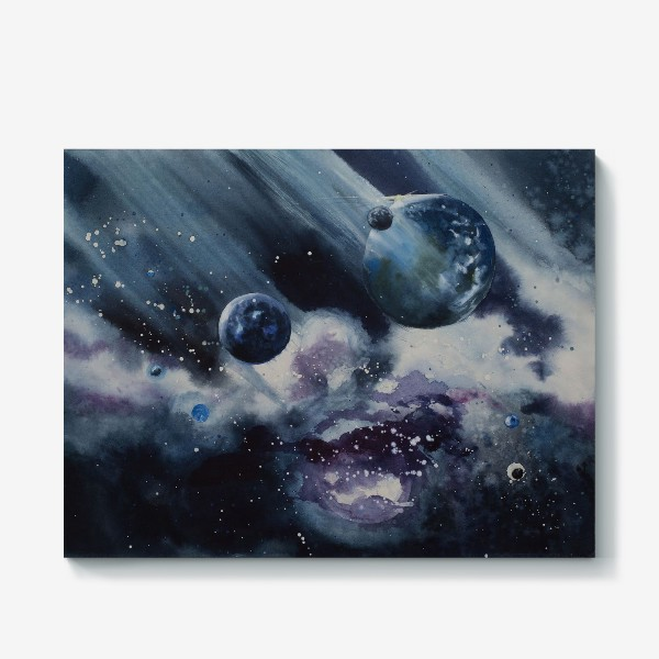 Холст «Синий космос»
